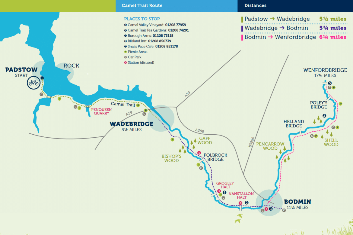 map of the camel trail